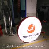 Round Dinheiro Grama Placa Signage Sinal LED a impressão de Seda Vácuo Plástico Caixa de Luz