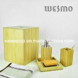 De tweekleurige Reeks van het Bad van het Bamboe (WBB0301C met afvalmand)