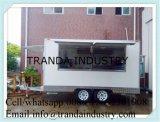 食料調達する凍結するドーナツコーヒーRotiメーカーの食糧トラックを揚げる