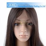 부피에 있는 실크 2 음색 이마에 v자형으로 난머리 가발 클립