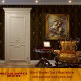 Porta de madeira maciça de boa qualidade de carvalho branco (GSP2-077)