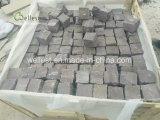 庭のテラスの砂岩玉石のペーバー