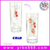 Fashionalの魔法の冷たく敏感なカラー変更のガラスコップ