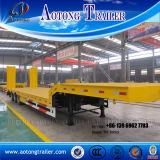半中国の掘削機の輸送のGooseneckのLowboyの低いベッドのトレーラー