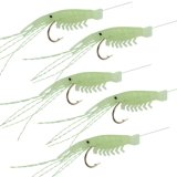 Atrações macias luminosas da pesca de Sabiki dos equipamentos do camarão do silicone 5