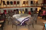 上品なホテルの食堂の椅子