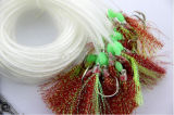 Le crochet neuf d'attrait d'hameçon du crochet 50cm de tuyauterie de clignotant de traces de palangre de sac des hameçons 25PCS/1 pour la pêche
