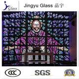 Vitrail de 5 + 5mm de haute qualité (verre d'église) avec le prix d'usine