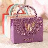 El alto grado de pulpa de madera original de caramelos de Papel Caja de regalo para Boda, la caja de caramelos portátil Creativo