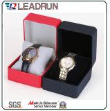 Caja de embalaje de empaquetado de la visualización del regalo del embalaje del reloj del caso del almacenaje del reloj del papel de cuero del terciopelo del rectángulo del reloj de madera (YS197)