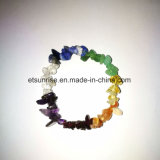 Cristal Natural Gemstone Crystal Chips Beaded Bracelet Jóias Gift