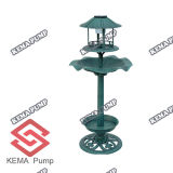 Resin solare Birdbath/Resin Bird Feeder con Lamp