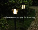 Lampe au sol d'éclairage hexagonal à énergie solaire