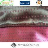 Tecido forrado de poli-viscose Mini-Jacquard Tecido tecido de forro