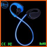 El auricular ligero del CSR Bluetooth 4.1 LED, colorido enciende para arriba los auriculares