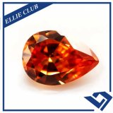 De oranje Halfedelsteen van de Steen Zircon CZ099 van de Kleur Kubieke