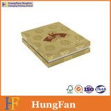 Caja de embalaje del color del regalo de oro del papel para los regalos