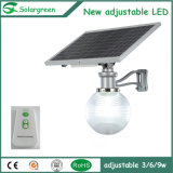 12W IP65 Outdoor LED All-in-One luz solar integrada do jardim
