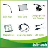 Perseguidor electrónico del GPS del bloqueo del envase con la tarjeta de la identificación del programa piloto de RFID