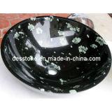 Negro chino del crisantemo del granito del lavabo de lavado, del fregadero, de la tapa y de Counertop (DES-S06) de la vanidad