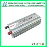 Une grande efficacité 2000W Onde sinusoïdale pure Convertisseur auto voiture alimentation (QW-P2000)