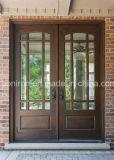 Portas principais exteriores das portas conservadas em estoque disponíveis do ferro da entrada com travessão