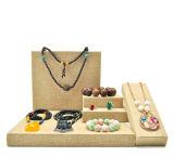 Stand acrylique en bois d'intérieur d'exposition de montre de constructeur de présentoir de bijou de velours (Ys63)