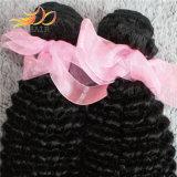 Человеческие волосы 100% Remy Kinky скручиваемости волос девственницы перуанские с естественным цветом