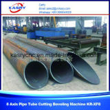 macchina di smussatura di taglio alla fiamma del plasma di CNC del tubo del diametro di 1000mm utilizzata per industria della conduttura
