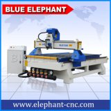 Máquina 1325, máquina de madeira do router do CNC da linha central da alta qualidade 3 do CNC de 3 linhas centrais com roda