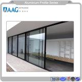 Parete divisoria del metallo di alluminio luminoso superiore ed alluminio esterni Proifle per la finestra ed il portello