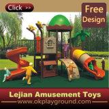 Projeto colorido para o campo de jogos plástico ao ar livre dos miúdos (12047A)