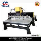 6 chef CNC Router Multi-Heads machine CNC de gravure de bois plat