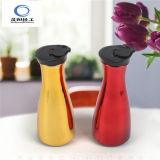 De Fles van het Sap van de Fles van de Melk van het glas met de Plastic Container van de Melk van het Glas van de Kleur van het Deksel