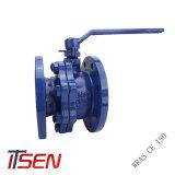 Valvola a sfera fusa/duttile di standard di DIN/ANSI del ferro della flangia dell'estremità con riduttore/in pieno alesa