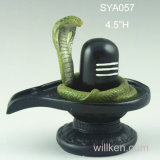 Dio indù del signore Deity Shiva Black Statue Lingham della resina