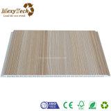El panel de pared de madera del PVC del compuesto de la instalación rápida