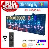 """屋外メッセージのLED表示をスクロールするリモート・コントロールプログラム可能なLEDの印RGB 39 """" X14 """"は7つのカラー伝言板を開く"""