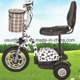 노인을%s 전기 스쿠터를 접히는 3개의 바퀴 전기 자전거