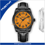 L'homme montres uniques/sur mesure 2018 Gentleman Watch/Bronze Watch/distributeurs de montres de luxe/l'Europe montre-bracelet/Big Focus Watch/libération rapide de regarder en cuir