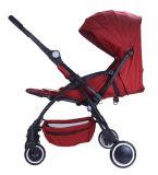 Europäischer Standard-Aluminiumrahmen-Falten-Baby-Spaziergänger mit Auto-Sitz