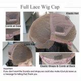 Capelli umani non trattati della parrucca piena riccia profonda del merletto con i capelli del bambino