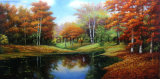 Высокая подробные ручной работы ландшафт картины маслом для дома украшения
