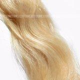 De golvende Band van 16 Duim van het Haar Blonde in Menselijk Haar Remy