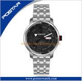 OEM & ODM de Dubbele Automatische Horloges van het Roestvrij staal van de Wijzerplaat van de Laag