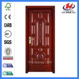 Diseño de doble puerta de madera maciza de comercial de la puerta de chapa de madera Wenge (JHK-018)