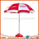 広告のためのロゴの印刷を用いる屋外の日傘