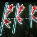Lumière de motif de bande de Pôle de rue de DEL pour la décoration de rue de ville