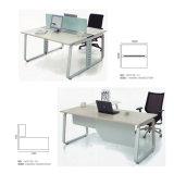 Madera MDF 3 persona de tamaño estándar de estaciones de trabajo de oficina con el marco de metal