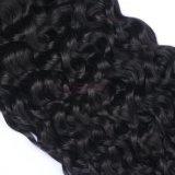 Meilleure vente soyeux de couleur naturelle des cheveux bouclés Bundles profonde